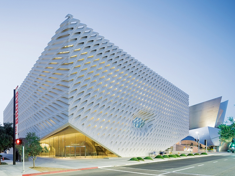 """An outer """"veil"""" encases the The Broad's """"vault"""" – its concrete core, which is central to the shape of the interior. Photograph: Iwan Baan"""
