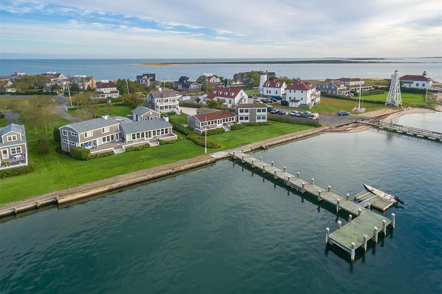 Haborfront Haven has one of only three private deepwater docks on Nantucket, making this double-sized property a truly rare find for the sailing enthusiast.