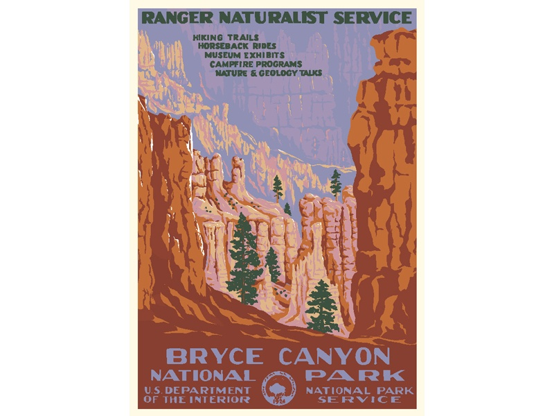 """""""Ranger Naturalist Service / Bryce Canyon National Park"""" – Library of Congress, Prints & Photographs Division, WPA Poster Collection"""