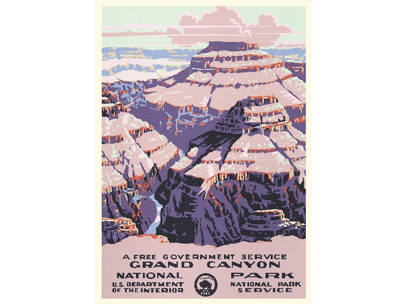 """""""Grand Canyon National Park"""" – Library of Congress, Prints & Photographs Division, WPA Poster Collection"""