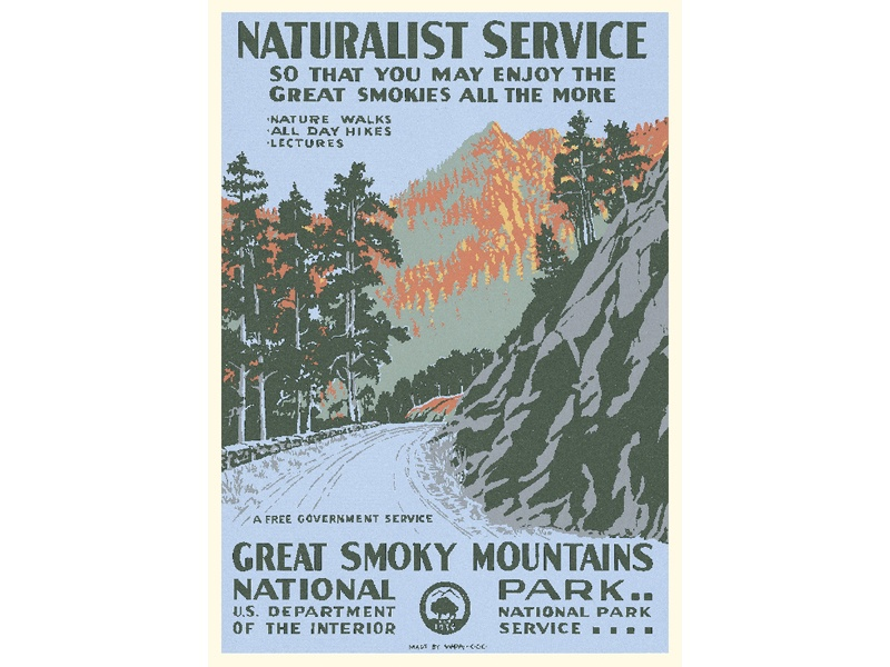 """Great Smoky Mountains"" – Library of Congress, Prints & Photographs Division, WPA Poster Collection"