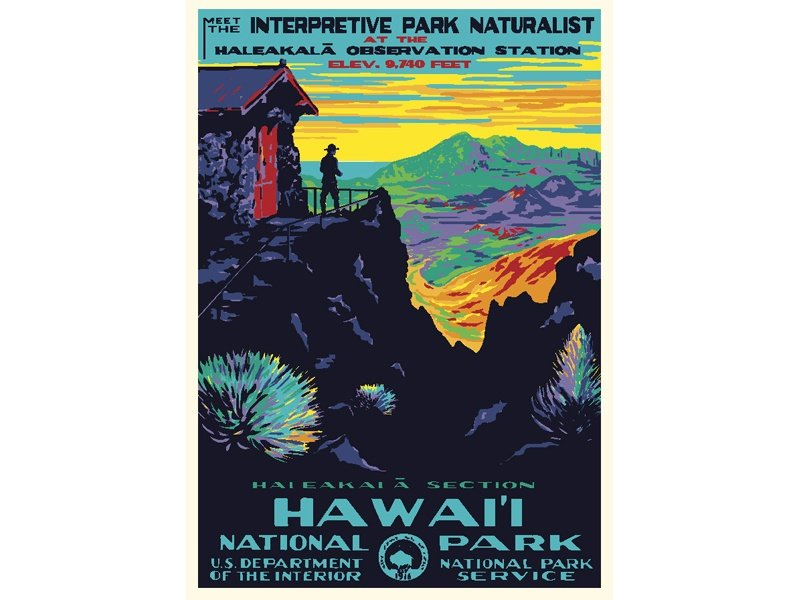 """Hawaii National Park"" – Library of Congress, Prints & Photographs Division, WPA Poster Collection"