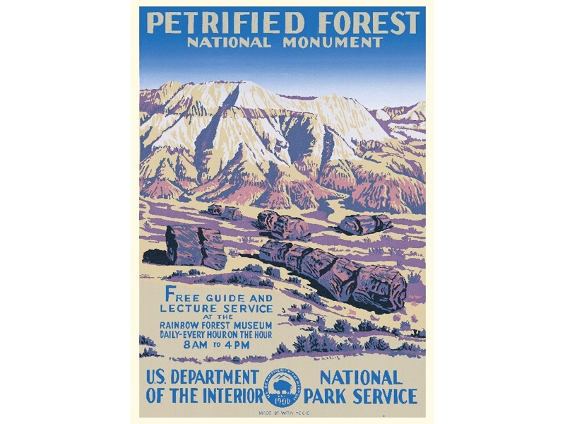 """""""Petrified Forest National Monument"""" – Library of Congress, Prints & Photographs Division, WPA Poster Collection"""