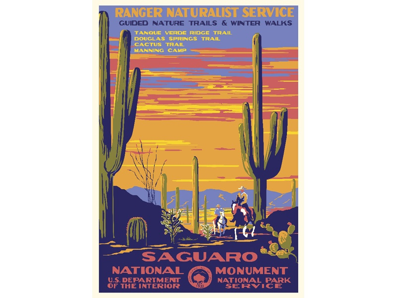 """""""Saguaro National Monument"""" – Library of Congress, Prints & Photographs Division, WPA Poster Collection"""