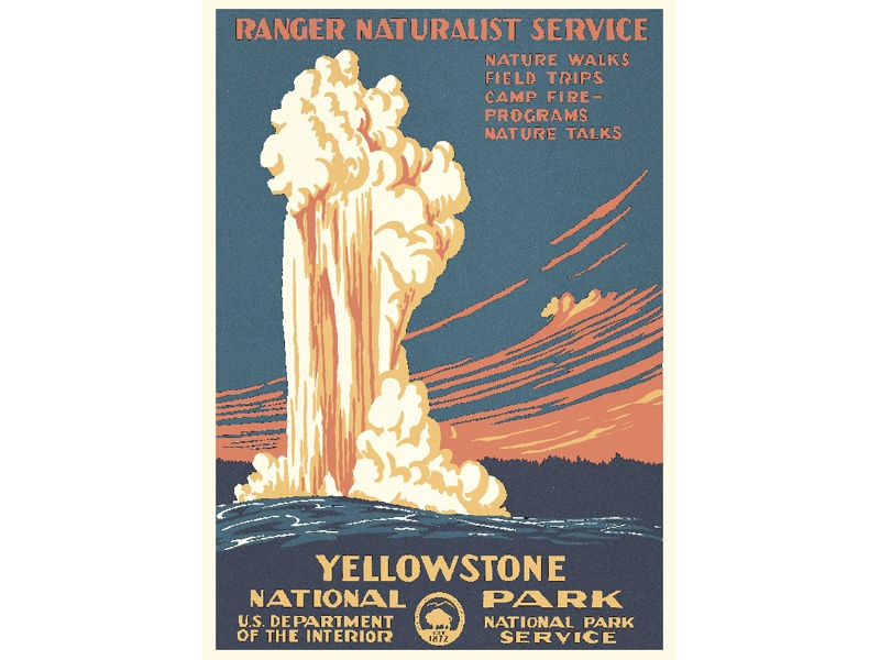 """Yellowstone National Park"" – Library of Congress, Prints & Photographs Division, WPA Poster Collection"