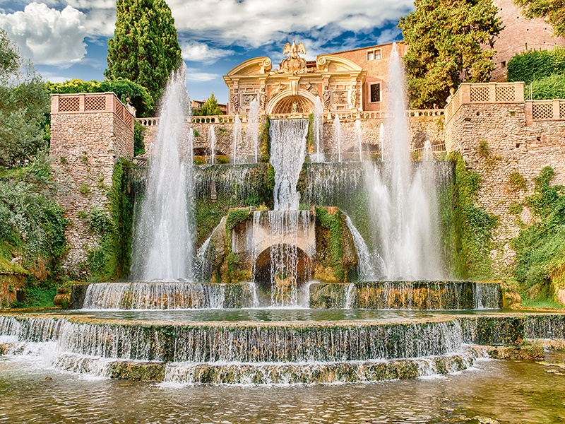 The Fountain of Neptune is among the impressive fountains of Villa d'Este, which has hosted artists and musicians such as Franz Liszt, who composed <i>Water Games at Villa d'Este</i> there. Photograph: Shutterstock
