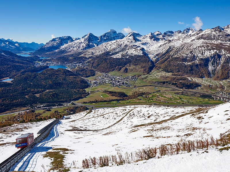 NetJets flies to more than 3,200 airports in more than 150 countries, including single-runway airfields—such as Samedan in Switzerland, near the Alpine resort of St Moritz (pictured)—that are often more convenient for travelers than commercial airports. Image: Getty Images