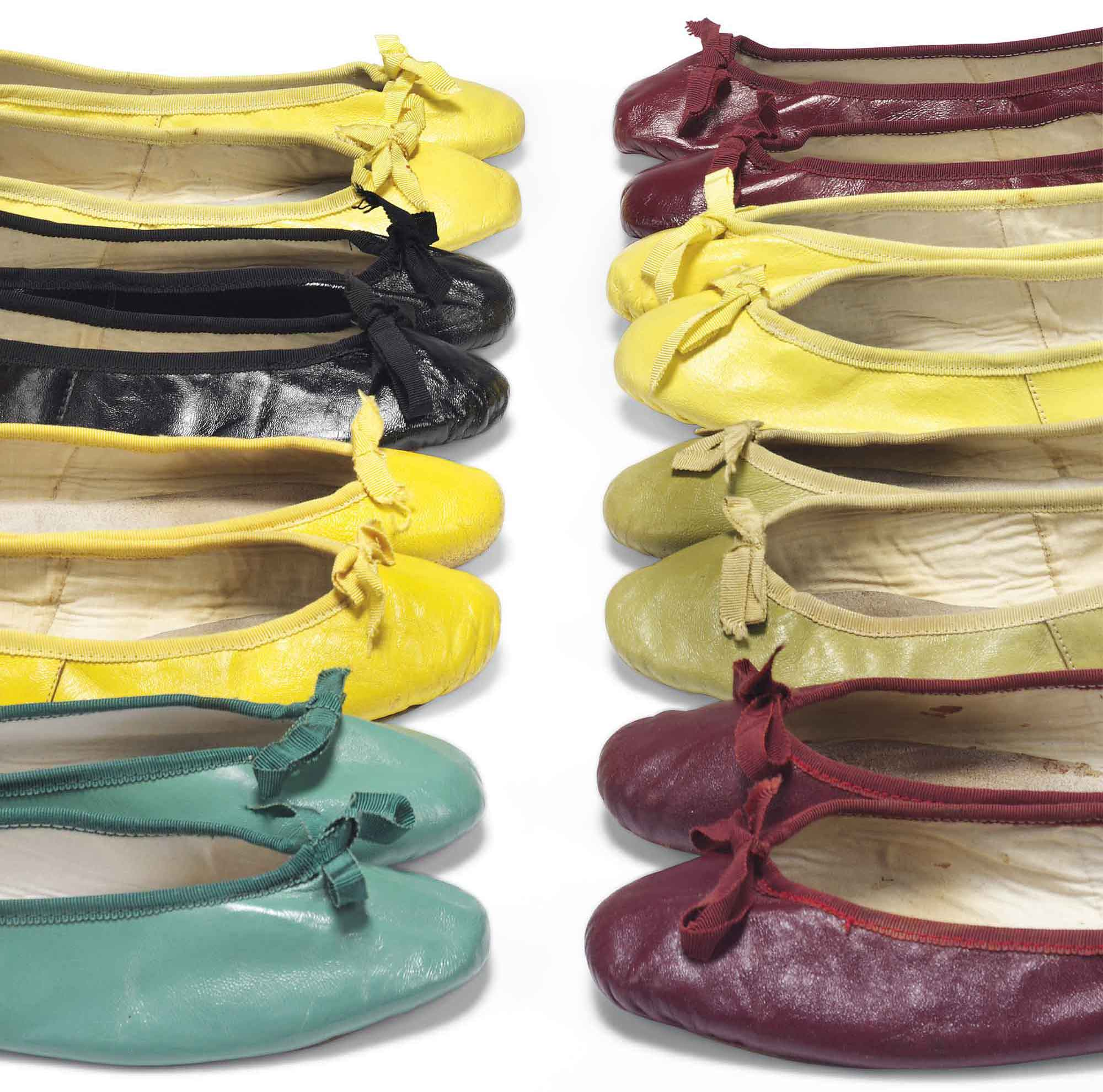 <b>A selection of ballet pumps</b> in a rainbow of colours</br> With estimates from £1,500
