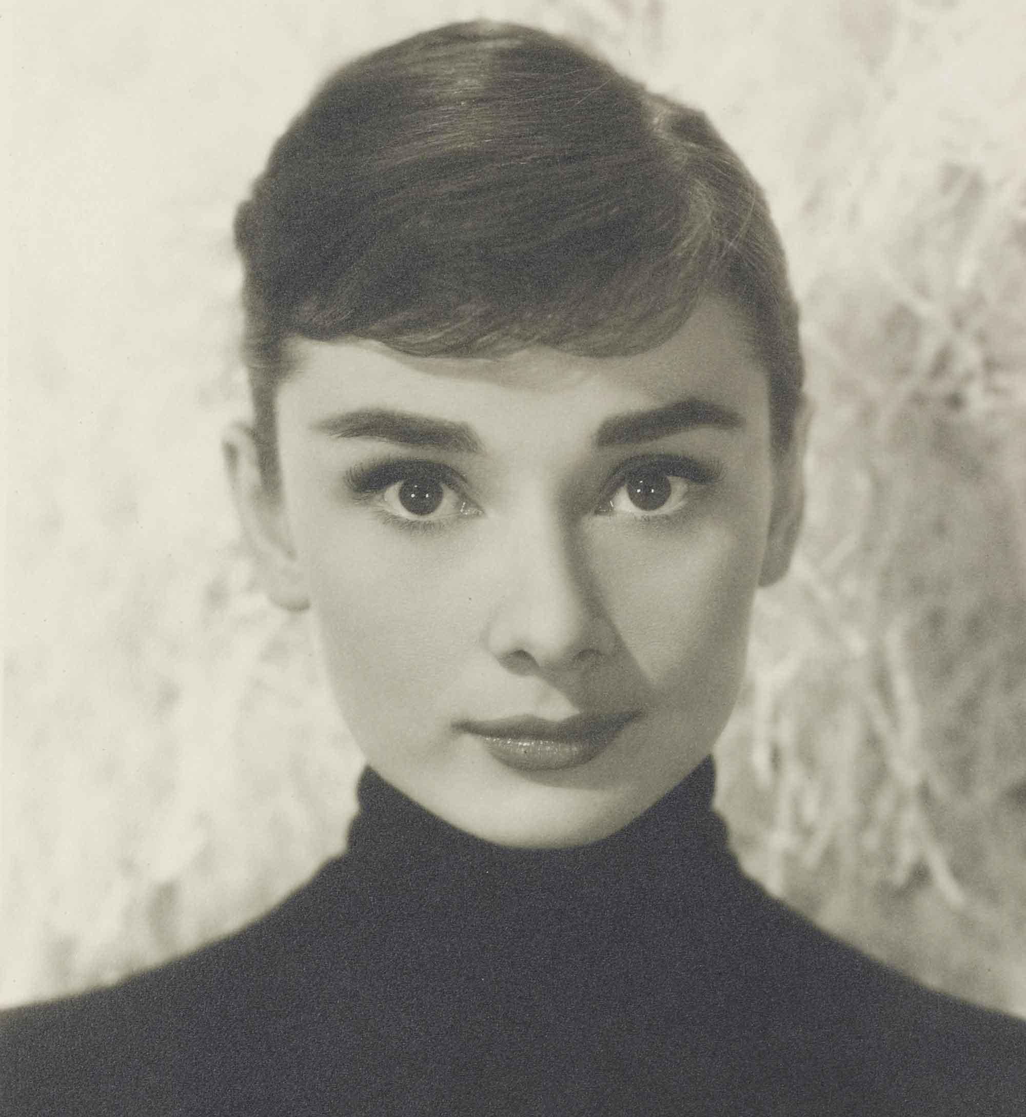 <b>FUNNY FACE, 1957</br>BUD FRAKER (1916-2002)</br><em>Audrey Hepburn</em></b></br> gelatin silver print</br> stamped photographer's Paramount studio credit (verso)</br> 13 ½ x 10 ¼ in. (34.2 x 26 cm.)</br> Estimate: £1,000-2,000