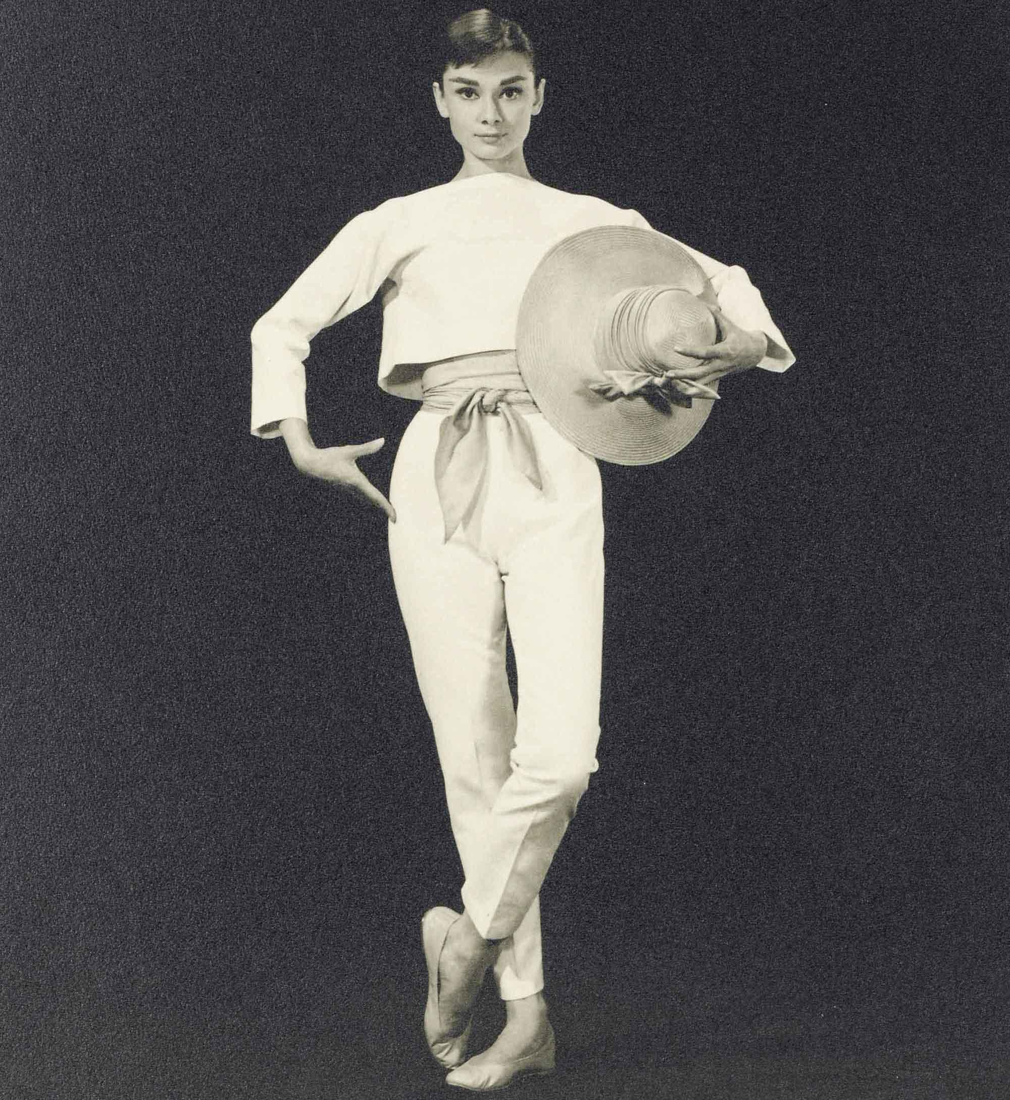 <b>FUNNY FACE, 1957</br>BUD FRAKER (1916-2002)</br><em>Audrey Hepburn</em></b></br> gelatin silver print</br> stamped photographer's Paramount studio credit (verso)</br> 13 ¾ x 10 3/4 in. (34.9 x 27.3 cm.)</br> Estimate: £1,000-1,500