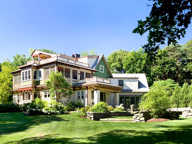Thoughtfully designed gardens that overlook the water and conservation land surround this beautifully restored Arts and Crafts residence in Ipswich, which dates from 1905. On the market with LandVest Inc., an exclusive affiliate of Christie's International Real Estate.