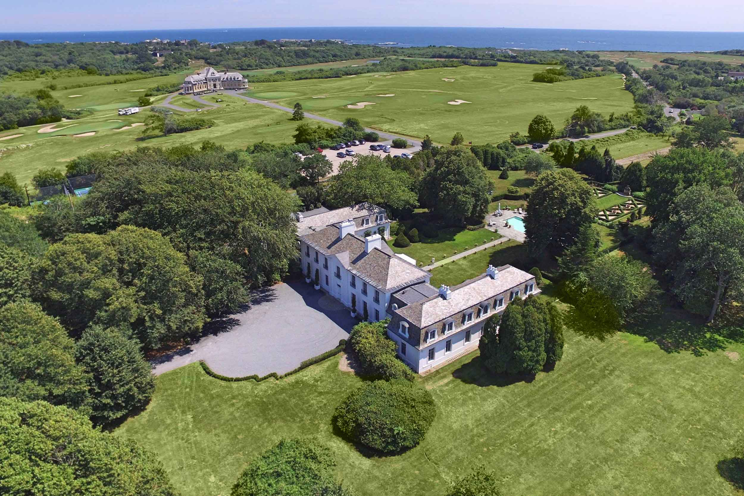 This historic Newport, Rhode Island, landmark has all the signature style notes of Provence with grand Louis XVI architectural flourishes.