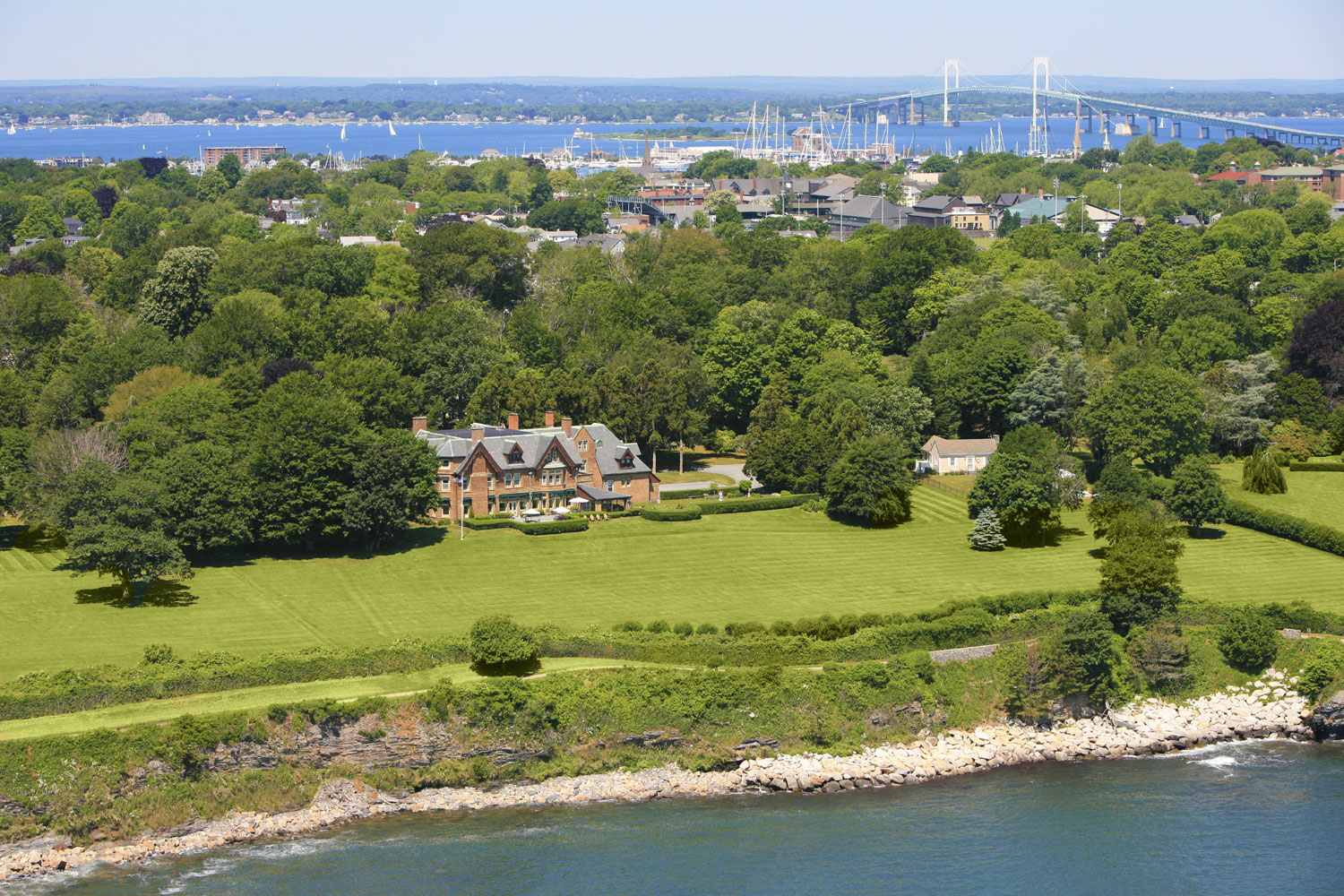 Ocean Lawn is sited on 6.70 acres of glorious grounds with 515 feet of frontage on the Atlantic Ocean.