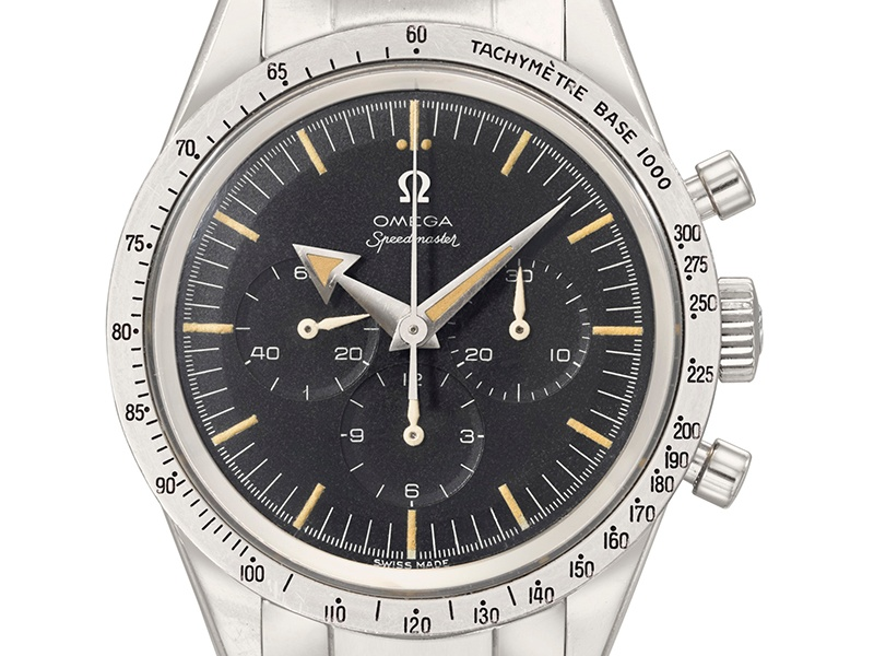 Christie's New York sold an OMEGA Speedmaster from 1958 for $118,750 in December 2015. Photograph: Christie's Images Ltd. 2016
