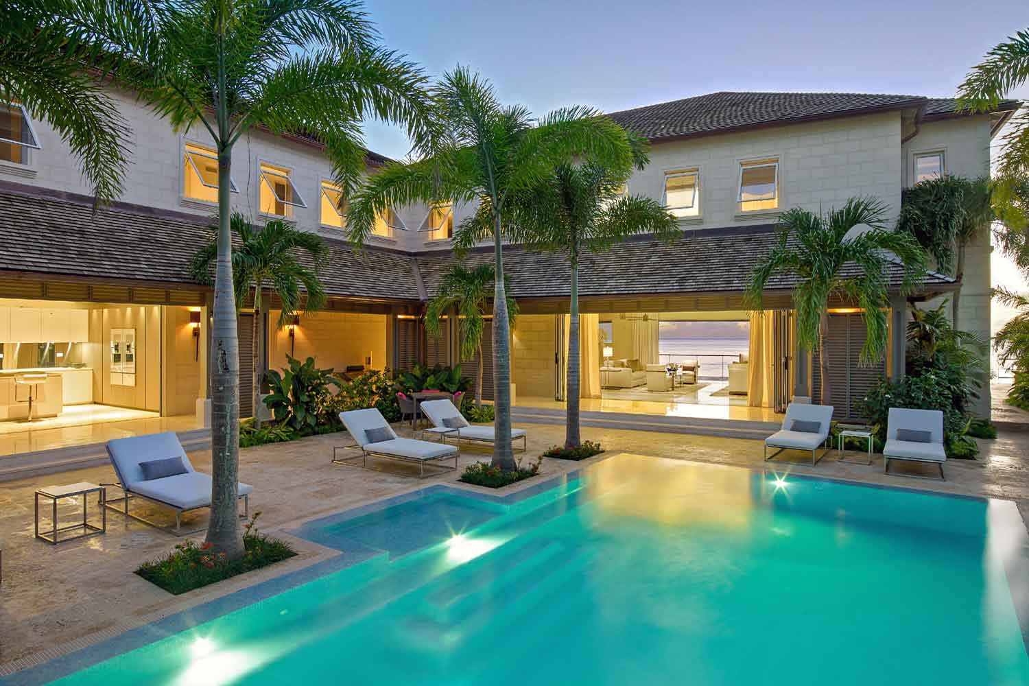 <b>Prospect, Barbados</b><br/><i>6 Bedrooms, 9,200 sq. ft.</i><br/>Beachfront villa on Barbados' Platinum Coast