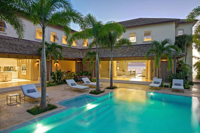<b>Prospect, Barbados</b><br/><i>6 Bedrooms, 9,200 sq. ft.</i><br/>Beachfront villa on Barbados' Platinum Coast