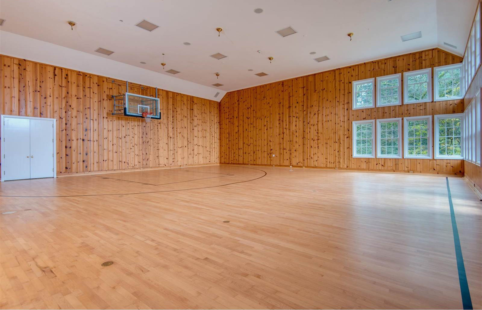 This Portland, Oregon, home features a multi-purpose indoor basketball court