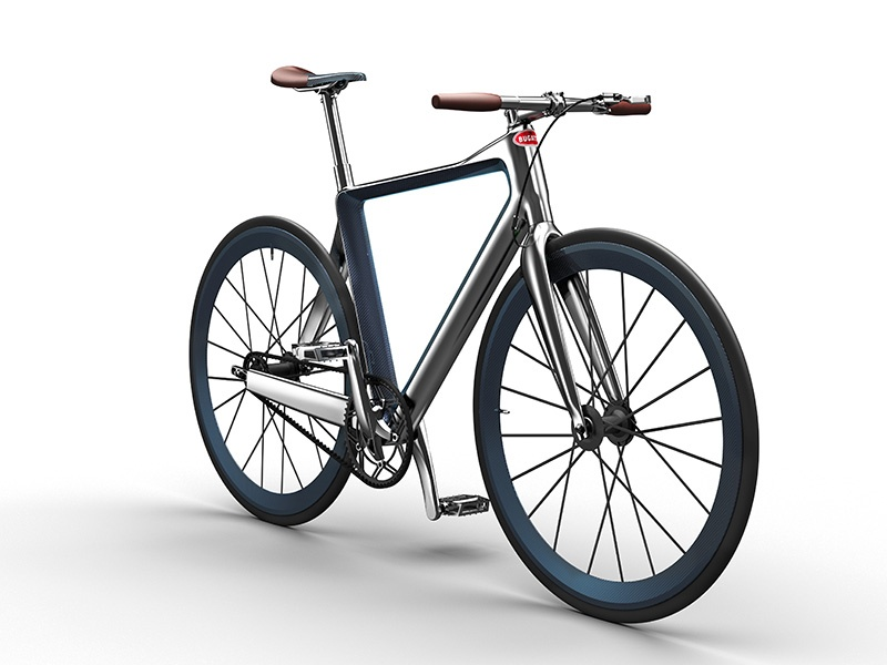 The sleek PG Bugatti bike can be tailored to its rider, and customers of the supercar builder can even have their bicycles matched to their own Bugattis.