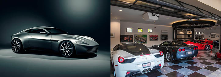 <i>Left: </i><b><a href=&quot;http://www.christies.com/lotfinder/memorabilia/spectre-aston-martin-db10-5973113-details.aspx?from=salesummary&amp;intObjectID=5973113&amp;sid=e79e7e85-190a-4c97-8724-118a07071460&quot; target=&quot;_blank&quot;>JAMES BOND SPECTRE ASTON MARTIN DB10</a><br/>Price realized: $3,476,466</b> <br/><br/> <i>Right: </i><b><a href=&quot;http://www.christiesrealestate.com/eng/sales/detail/170-l-78253-f1602162053700078/27-stone-cliff-rancho-mirage-92270-rancho-mirage-ca-92270&quot; target=&quot;_blank&quot;>STONE CLIFF ESTATE</a></b><br/>Rancho Mirage, California<br/> <i>Offered by HK Lane Real Estate</i><br/><b>List price: $5,750,000</b>