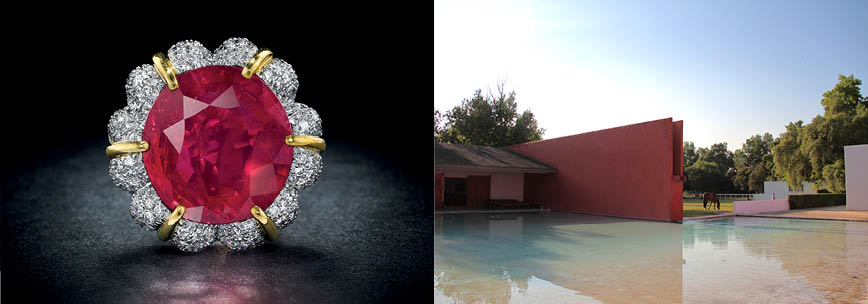 <i>Left: </i><b><a href=&quot;http://www.christies.com/lotfinder/jewelry/a-sensational-ruby-ring-by-verdura-5988023-details.aspx&quot; target=&quot;_blank&quot;>A SENSATIONAL RUBY RING<a></a><br/>By Verdura<br/>Price Realized: $14,165,000</b> <br/><br/> <i>Right: </i><b><a href=&quot;http://www.christiesrealestate.com/eng/sales/detail/170-l-141-1305141650000455/cuadra-san-cristobal-federal-district-md-06500&quot; target=&quot;_blank&quot;>CUADRA SAN CRISTOBAL</a></b><br/>Federal District, Mexico<br/><b>List price: $13,000,000</b>