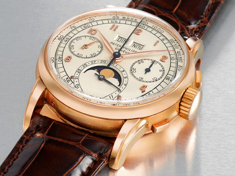 Patek Philippe's perpetual calendar chronograph watch in pink gold was purchased at auction for $2.7 million in November 2014 in Geneva.Photograph: Christie's Images Ltd. 2016
