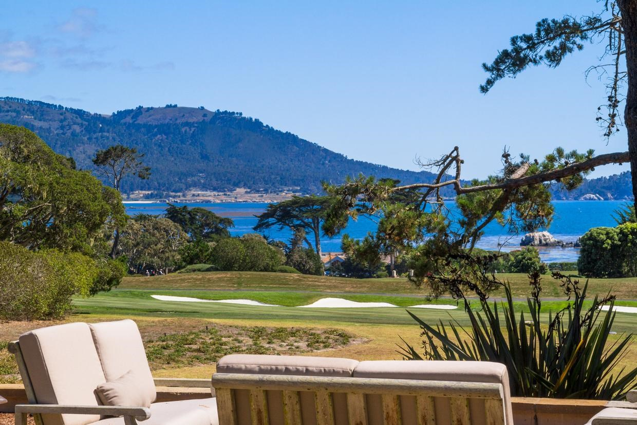 <b>4 Bedrooms, 5,803 Sq. Ft.</b><br/>Hidden from the road and set well back from its frontage on the second fairway of the world-renowned Pebble Beach Golf Links, this uniquely private estate rests on two-acres with views of the golf course and the ocean, Stillwater Cove, and Point Lobos.