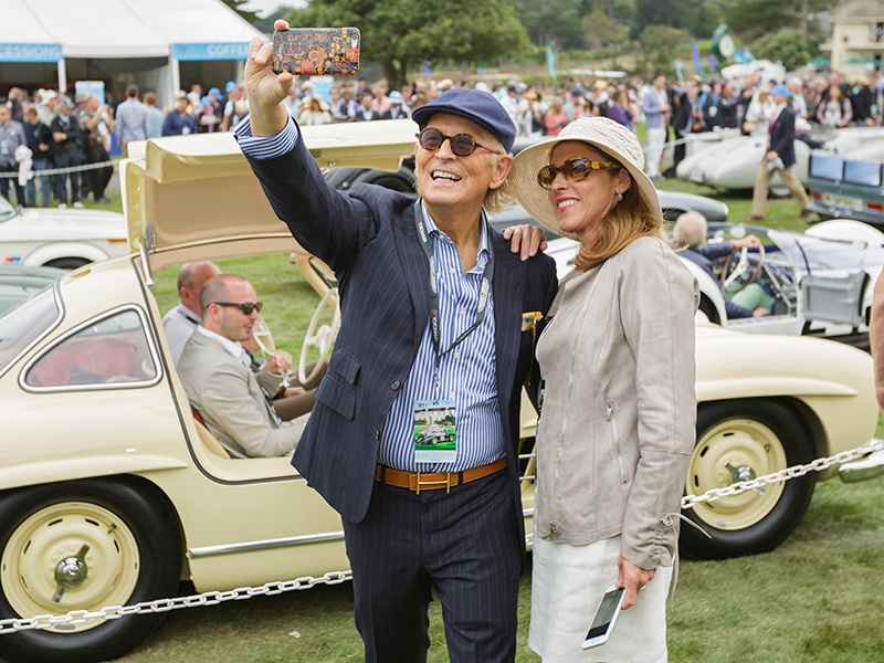 Zackary Wright, Christie's International Real Estate Executive Director for Asia Pacific and Western North America, enjoying the Pebble Beach Concours d'Elegance in 2016. Photograph: Kimball Studios/Courtesy of Pebble Beach Concours d'Elegance
