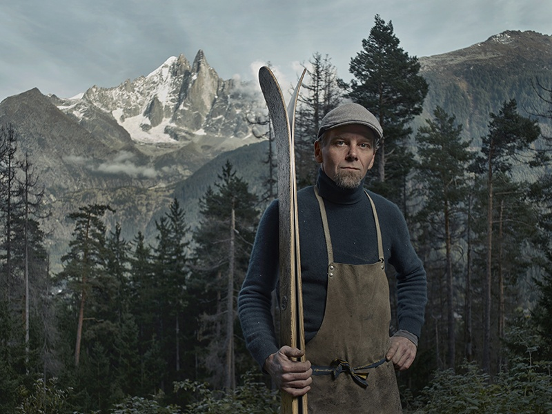 Peter Steltzner, who found his vocation and his home in the French Alps, near Chamonix. Portrait and banner photograph: Alexander James