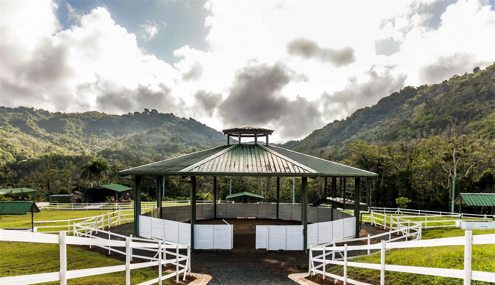The ranch and recreational facilities are outstanding. An indoor equestrian arena, round pen, loose boxes, and stables for horses, donkeys, llamas, pigs, goats, and sheep, are among the delights.