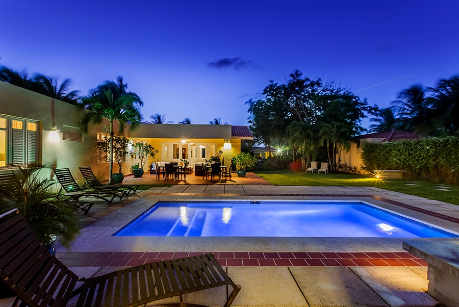 This open and modern four-bedroom villa is located in Dorado, a resort town with multiple beaches and golf courses located about half an hour from San Juan.