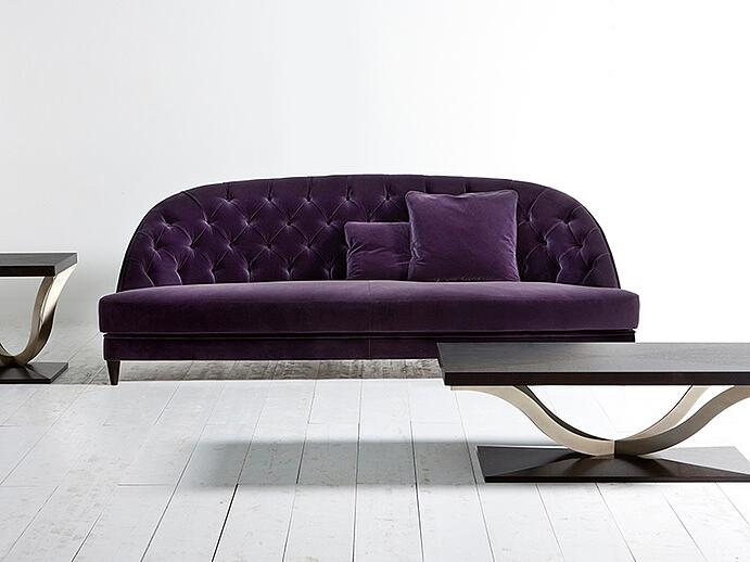 Add a touch of regal style to your home this spring with Opera Contemporary's velvet sofa.