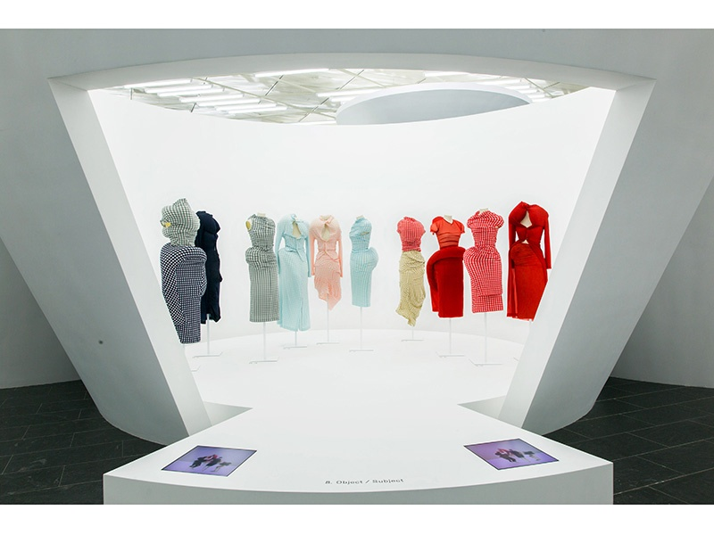"""For <i>Rei Kawakubo/Comme des Garçons: Art of the In-Between</i>, garments sit within nine sections that explore the idea of duality, such as """"Object/Subject."""" Photograph: ©The Metropolitan Museum of Art"""
