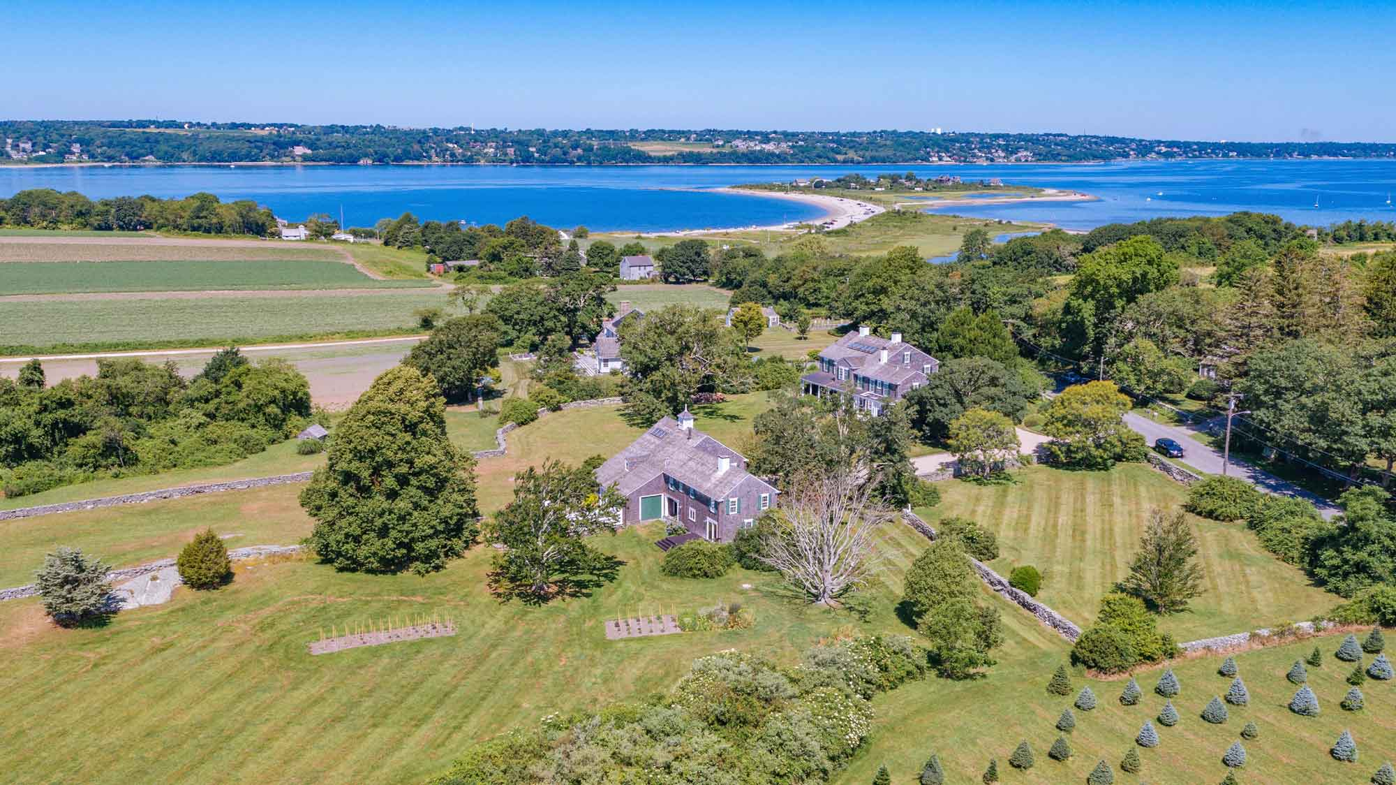 One hour from Boston, Pease Field Farm is a rare combination of farm and ocean living in Tiverton, Rhode Island.