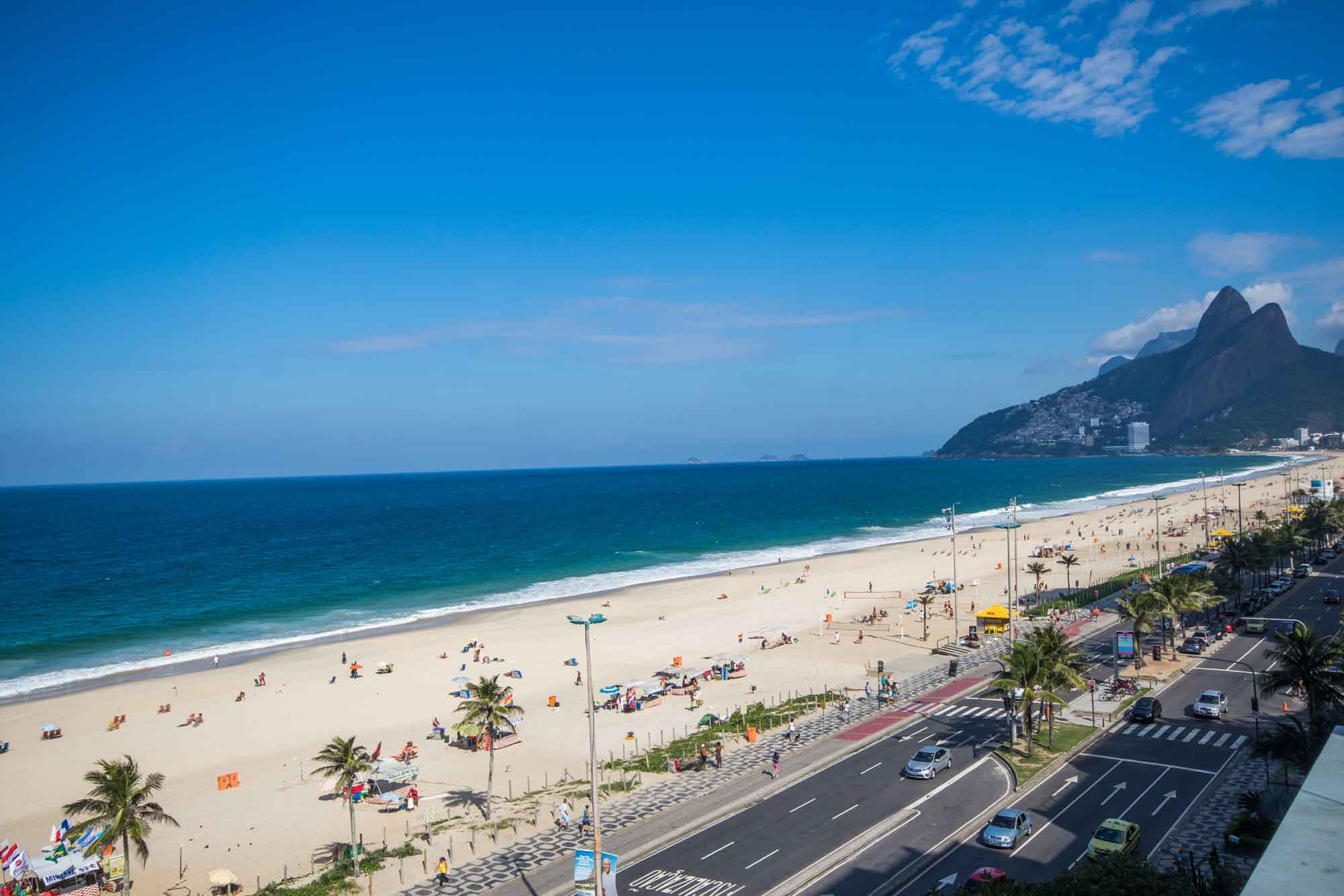 A stunning lap pool points to Ipanema Beach and Sugarloaf from the terrace of this Rio de Janeiro masterpiece.