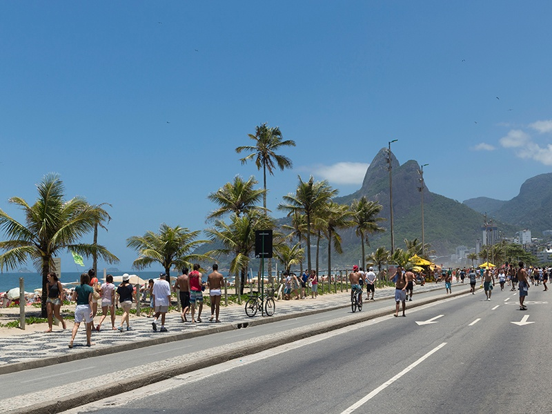 Ipanema  is an exclusive beachfront neighborhood with world-class restaurants, shops, and cafés. Photograph: Getty Images
