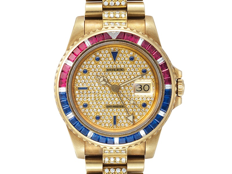 """A collector purchased this Rolex GMT-Master """"SARU"""" reference 16758 for $281,000 in June 2016 at Christie's New York. Photograph: Christie's Images Ltd. 2016"""