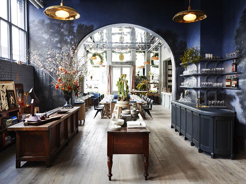 The new Roman and Williams Guild New York acts as an emporium for the designer's 40-piece furniture and 15-piecelightingcollection, while also offering a restaurant, library, design gallery, art studio, and boutique in which almost everything is available to buy.