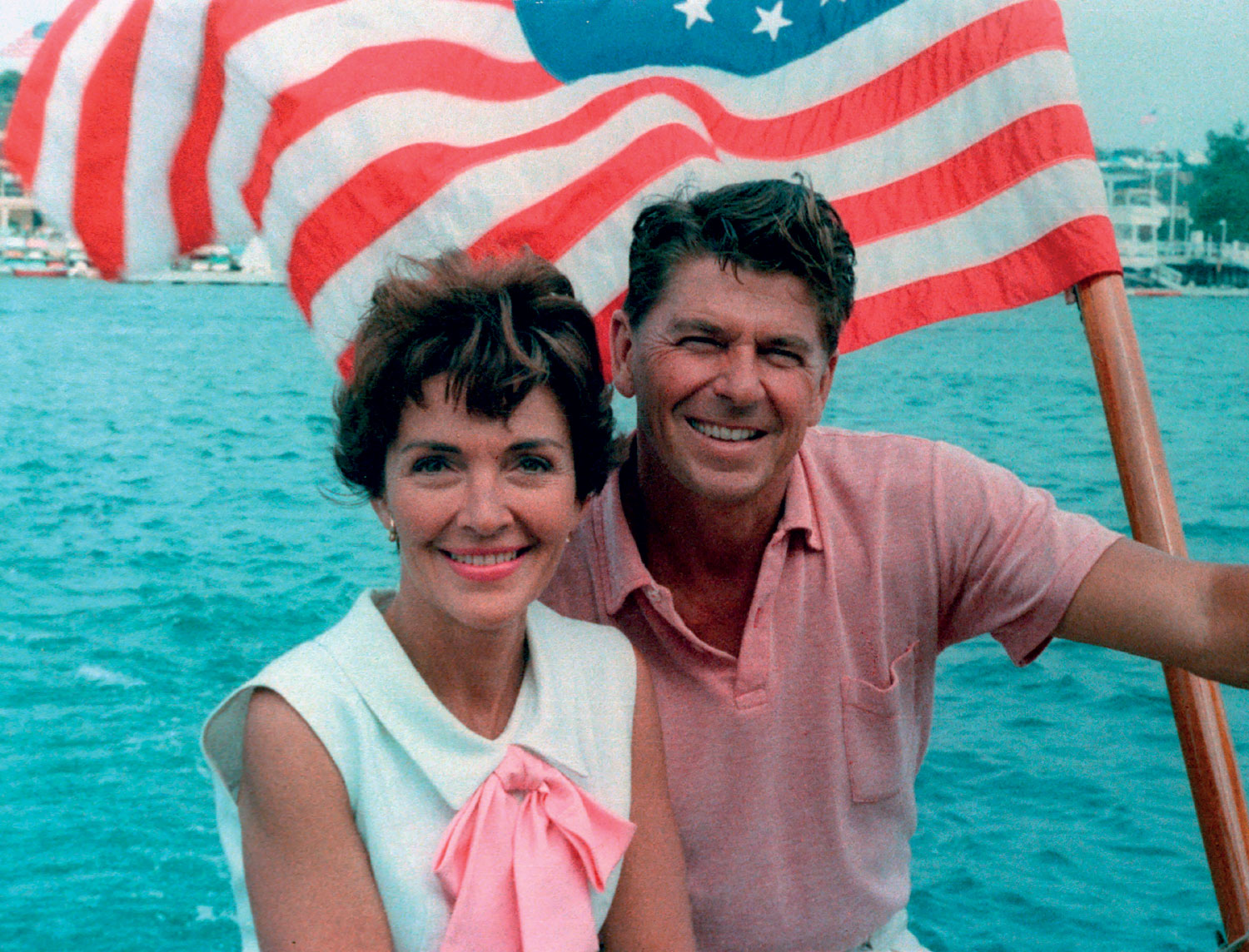 Ronald Reagan and Nancy Reagan aboard a boat in California. August 1964. Courtesy of the Ronald Reagan Presidential Foundation and Library. Photographer unknown.