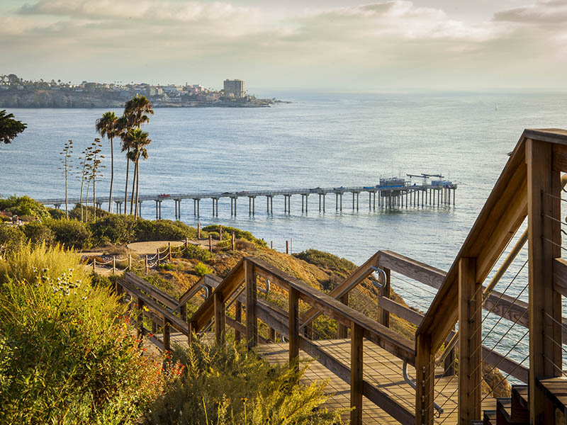 The coastal trail at Scripps Institution of Oceanography at UC San Diego. Photograph: Scripps Institution of Oceanography at UC San Diego