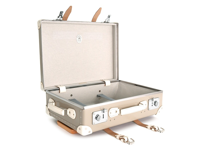 The new Masai Edition collection from Globe-Trotter includes this trolley case in sand and ivory.