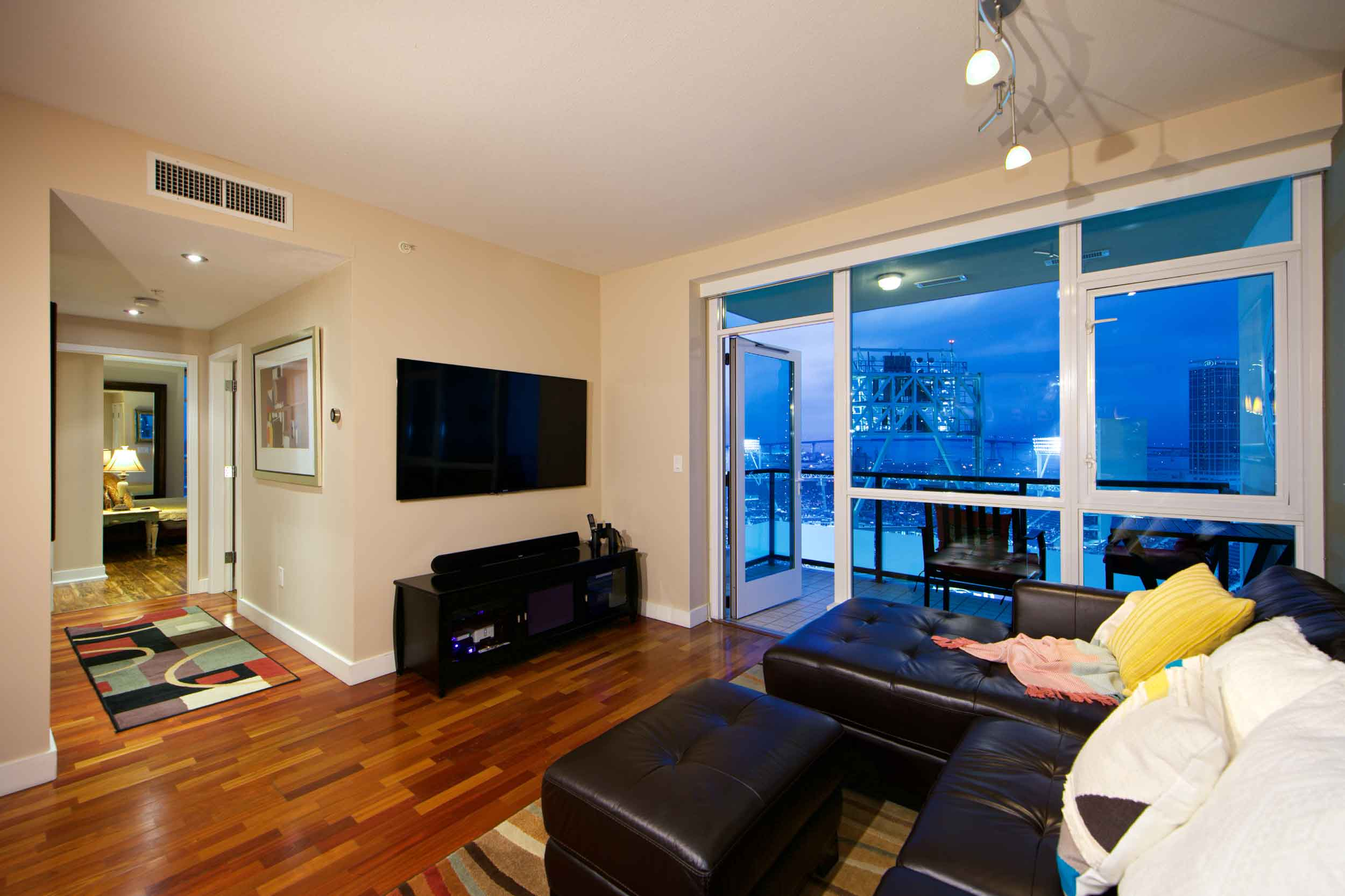 This San Diego 16th-story apartment comes with skybox views of Padres home games