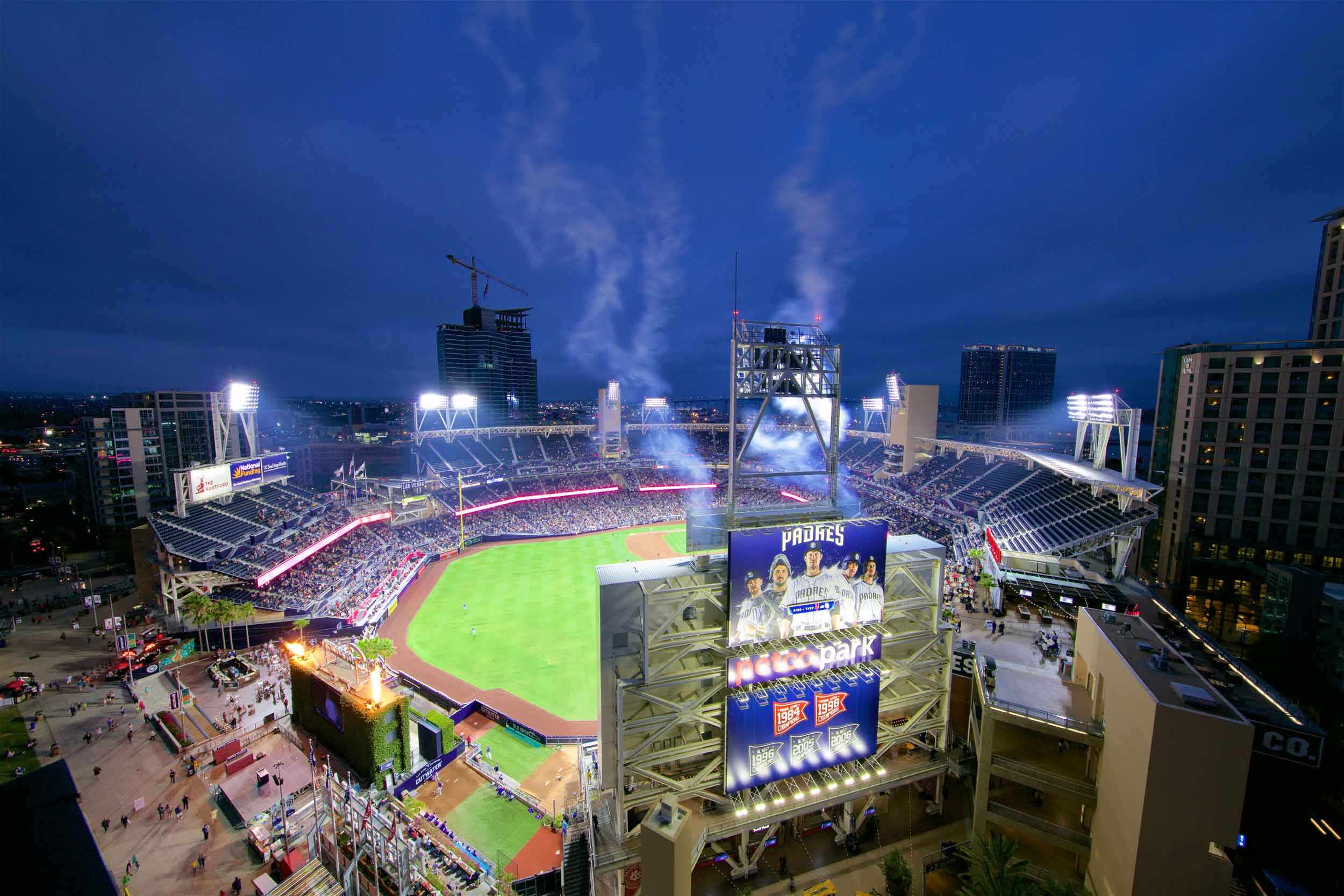 This San Diego penthouse comes with skybox views of Padres home games