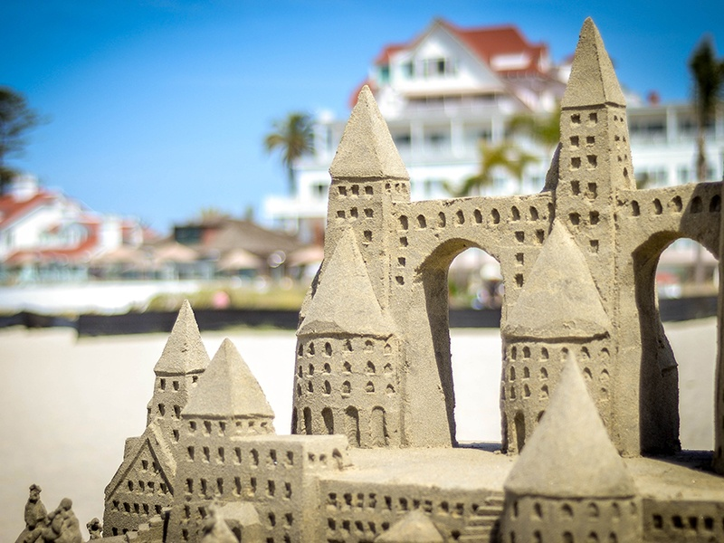 The famous Hotel Del Coronado (and banner) is the location for Christie's International Real Estate's 2017 Luxury Specialist Conference this fall. Photograph: Shane Garlock
