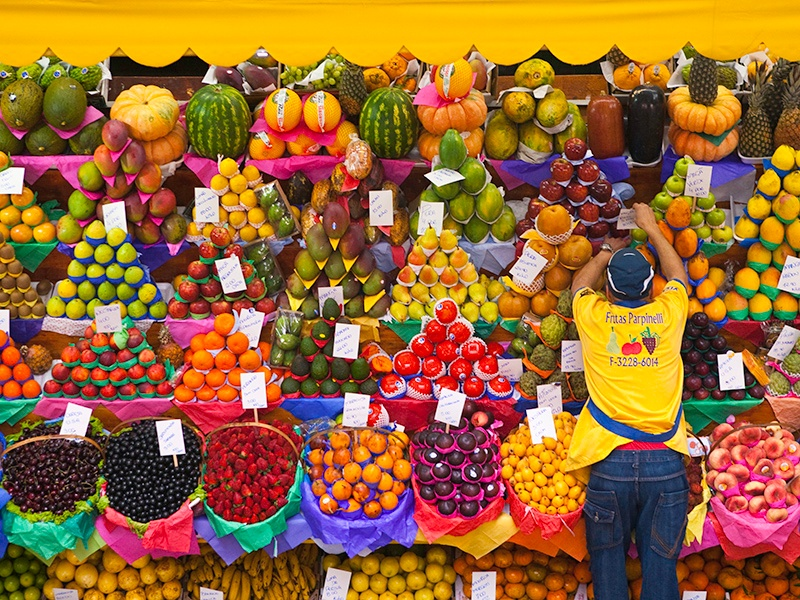 Renowned for its mortadella sandwiches, the Municipal Market of São Paulo also has a huge array of tropical fruit, meat and fish, kitchen utensils, and handicrafts. Photograph: Getty Images