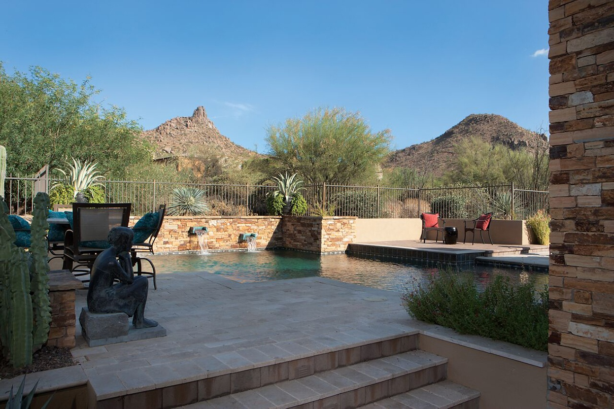 At Zen House, a desert hideaway in the foothills of Pinnacle Peak, every room has been thoughtfully designed and incorporated for optimum use of space.