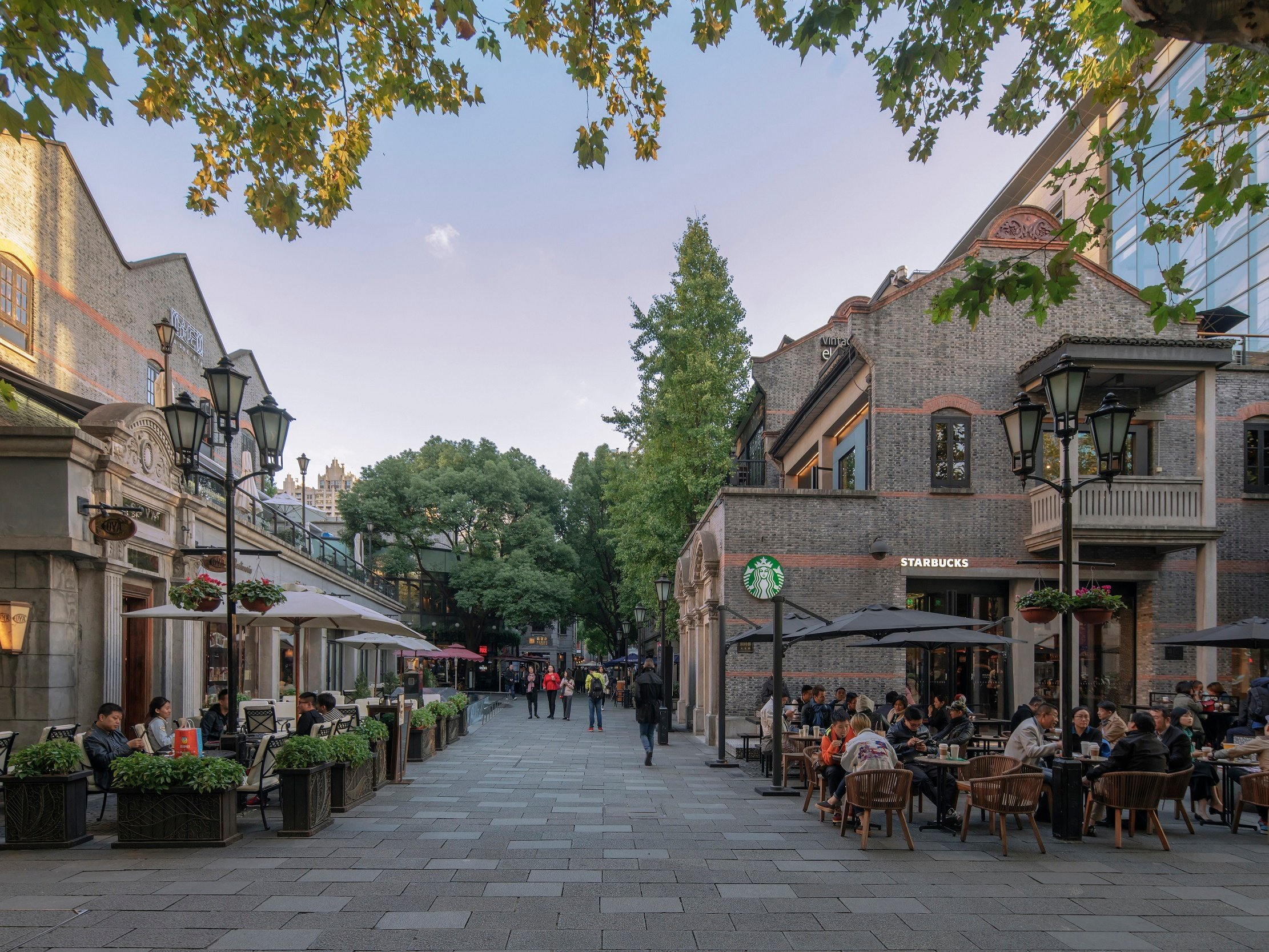 Big-name brands and traditional Shikumen architecture align in Xintiandi's attractive pedestrianized setting.