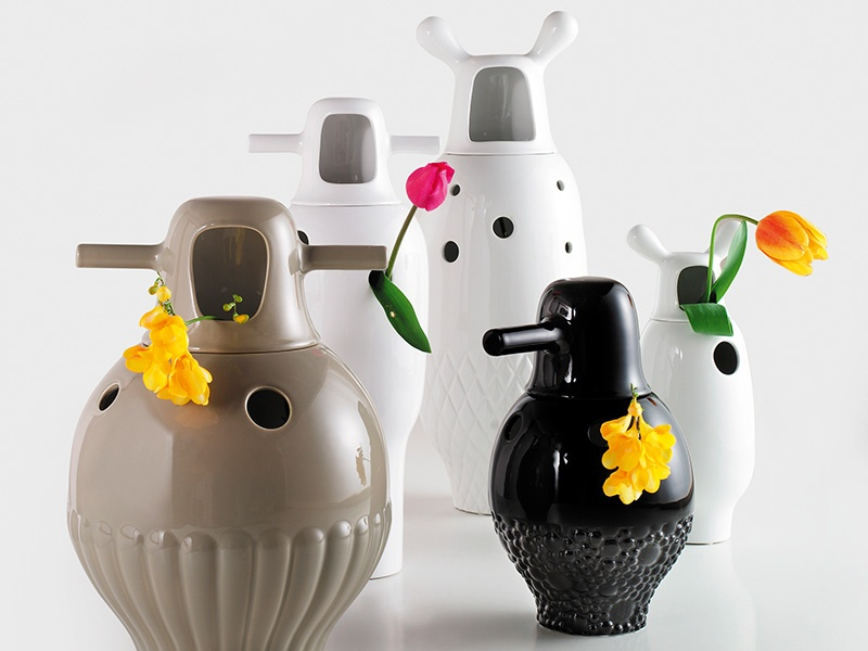 Showtime vases, inspired by MGM musicals, for BD Barcelona Design. Photograph: Hayon Studio