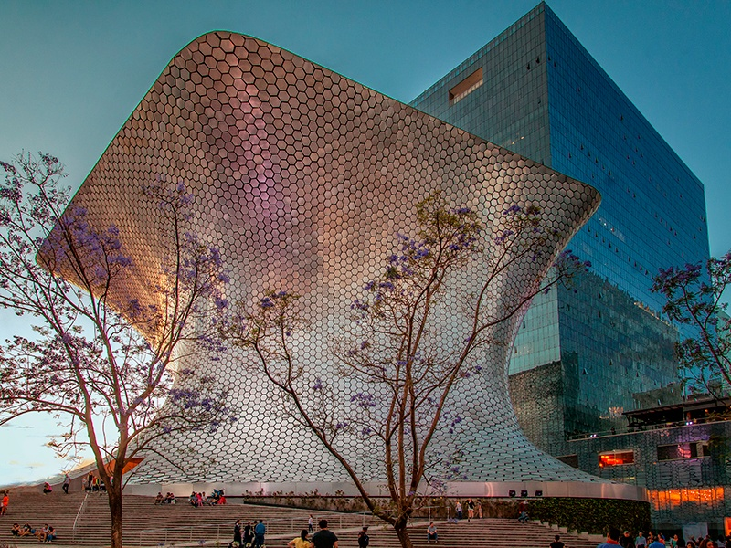 The Soumaya Museum in Mexico City houses telecom tycoon Carlos Slim's collection of mostly European and Mexican artworks. Photograph: Getty Images
