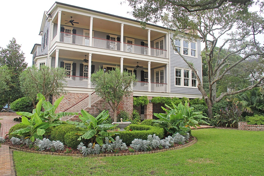 This meticulously crafted, elegant brick and clapboard home is a boater's dream, just steps from true deep water and minutes from downtown Charleston.