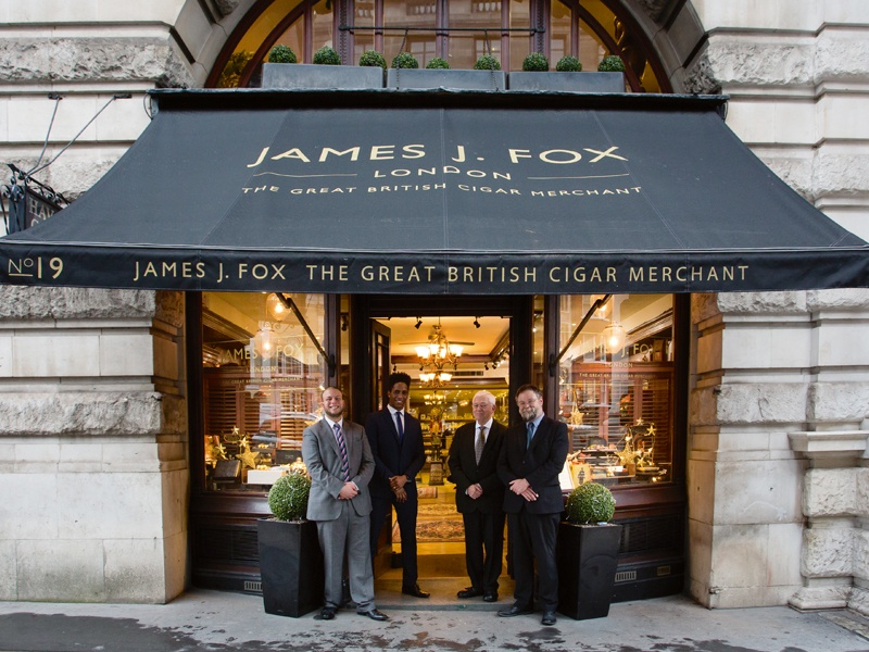 Cigar merchant James J Fox has been trading from 19 St James's Street since 1787, with notable figures such as Sir Winston Churchill, Oscar Wilde, British and foreign royalty, and leading lights of the stage, film, sport, and music among its customers.